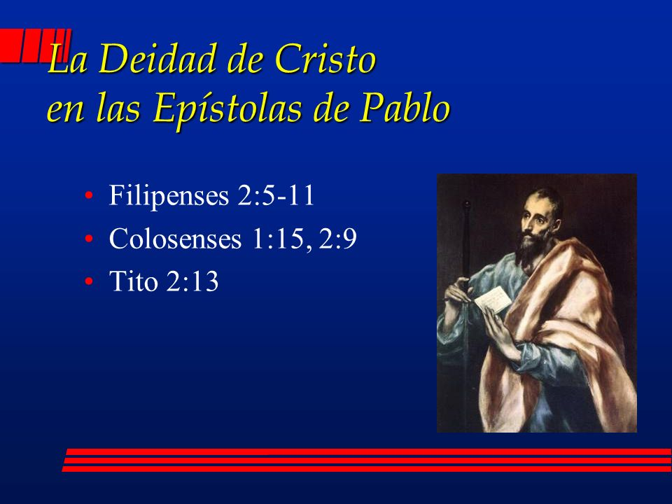 La Deidad de Cristo en las Epístolas de Pablo
