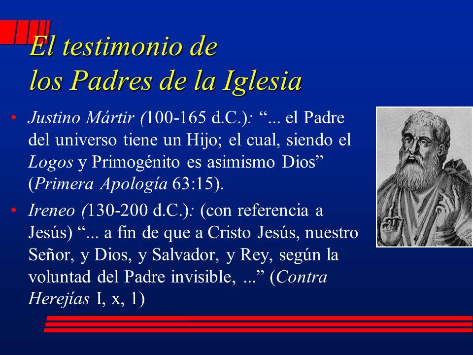 El testimonio de los Padres de la Iglesia