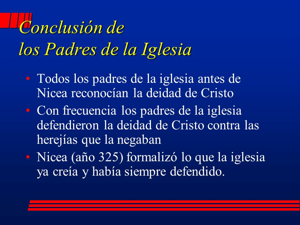 Conclusión de los Padres de la Iglesia