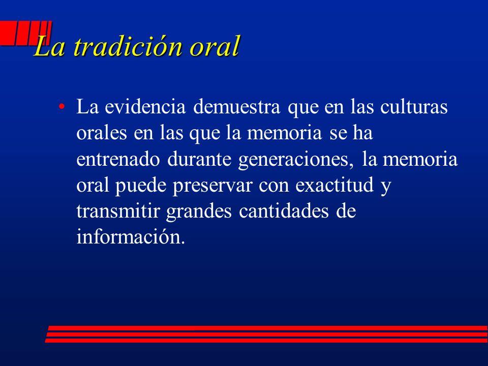 La tradición oral