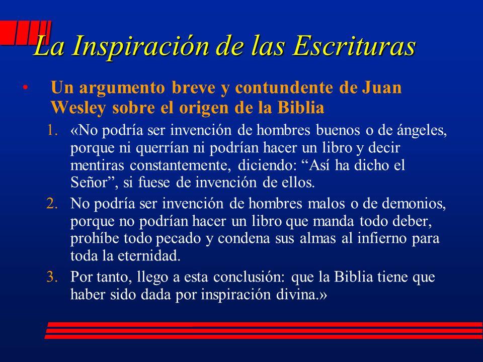 La Inspiración de las Escrituras