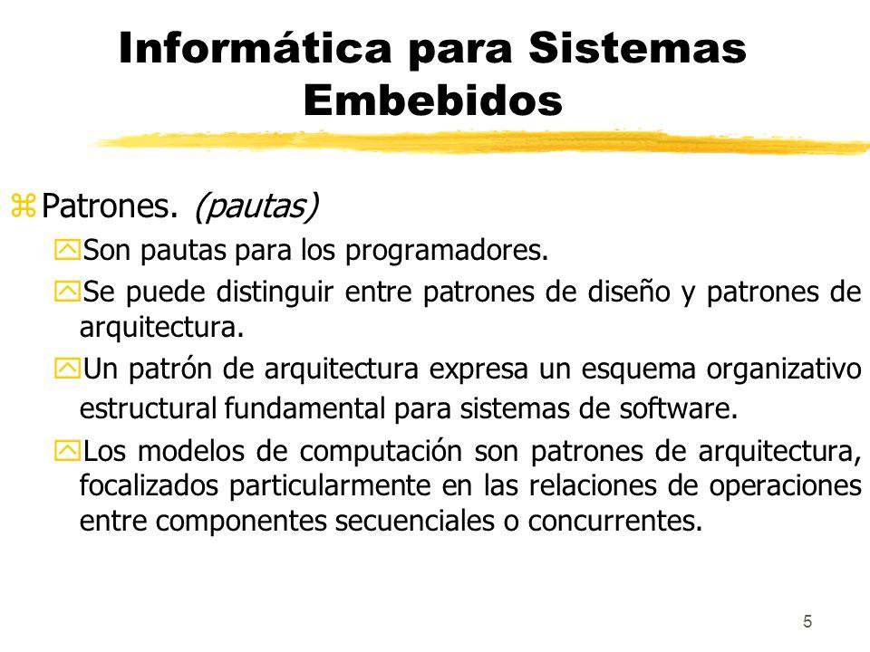 Informática para Sistemas Embebidos