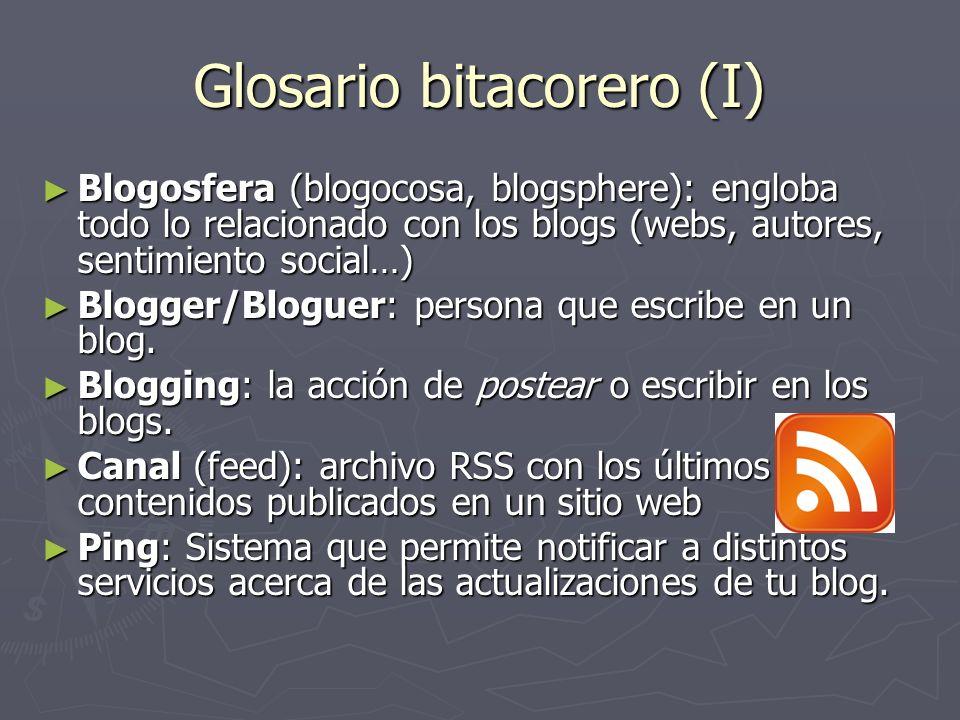 Glosario bitacorero (I)