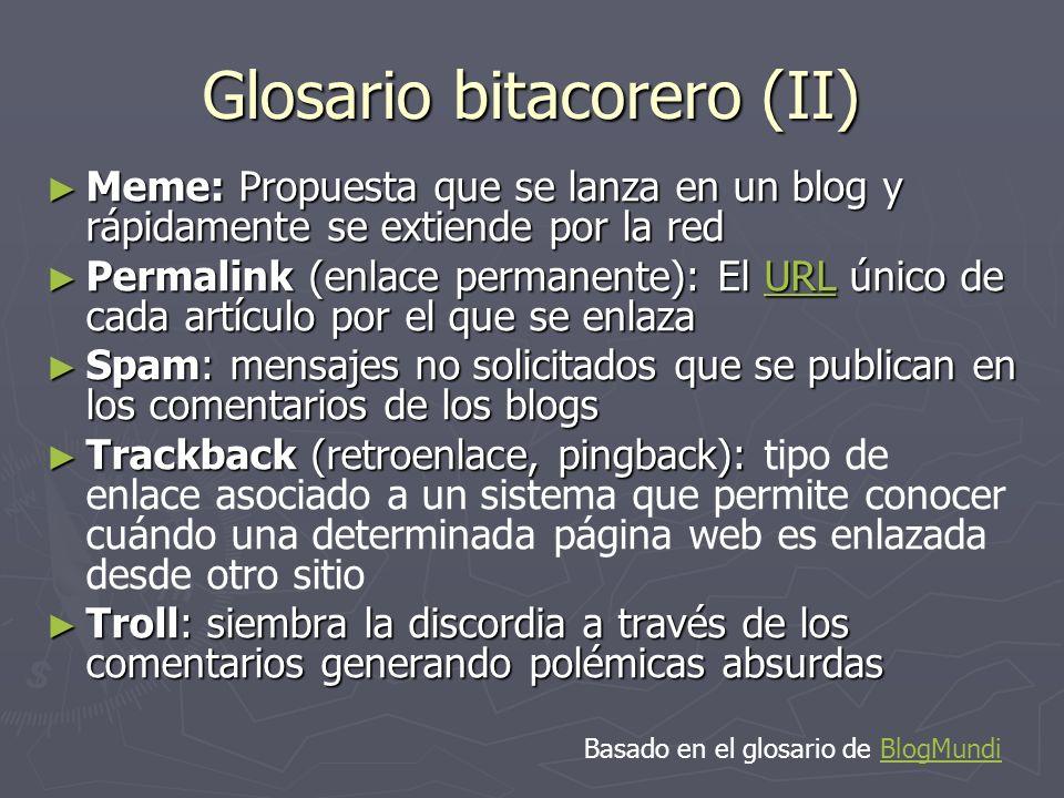 Glosario bitacorero (II)