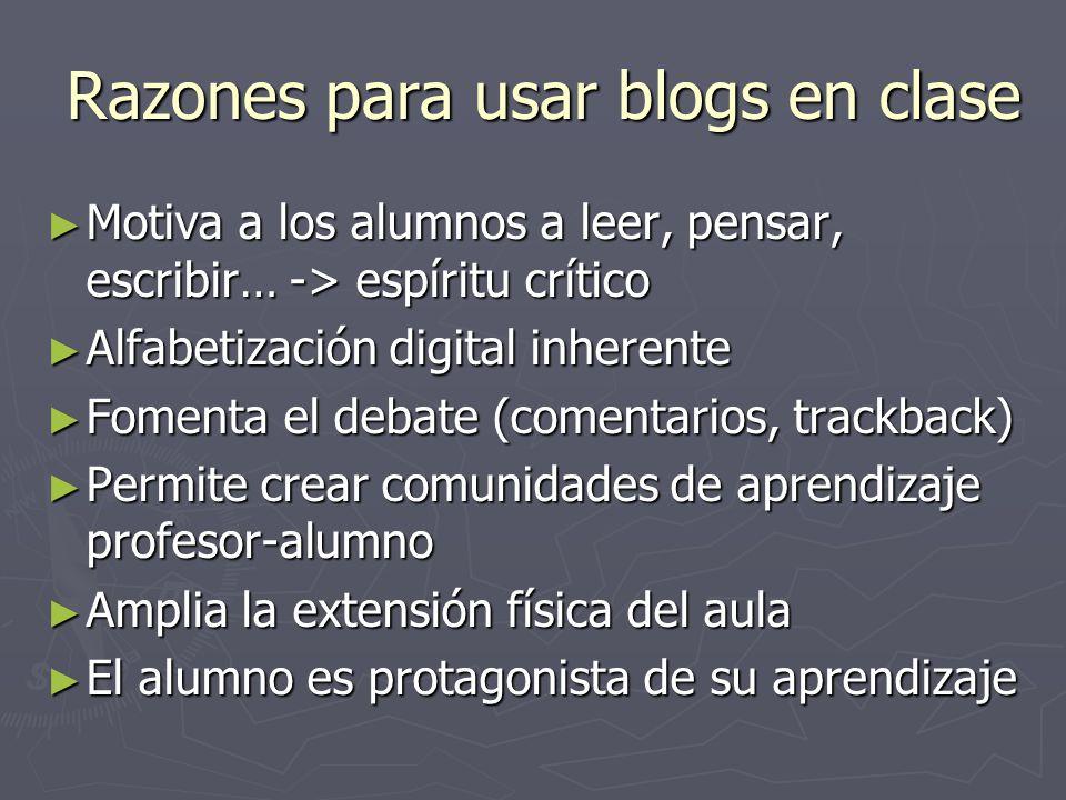 Razones para usar blogs en clase