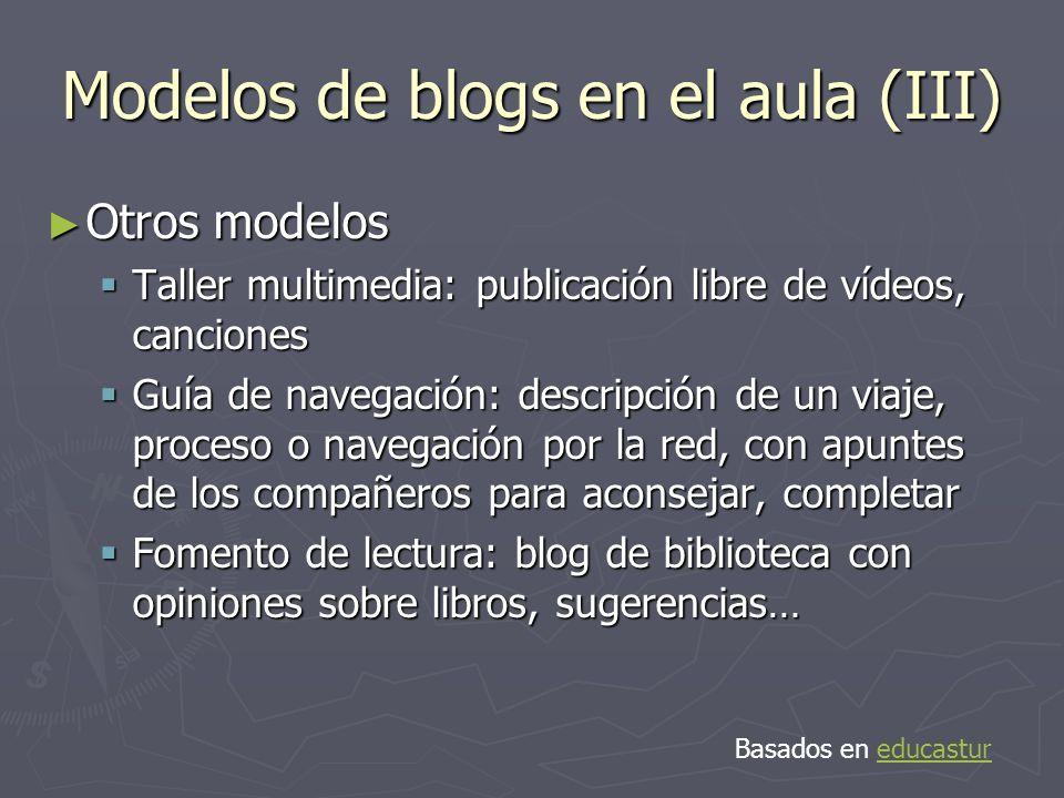 Modelos de blogs en el aula (III)