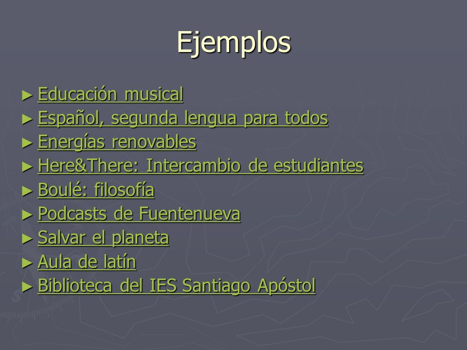 Ejemplos Educación musical Español, segunda lengua para todos