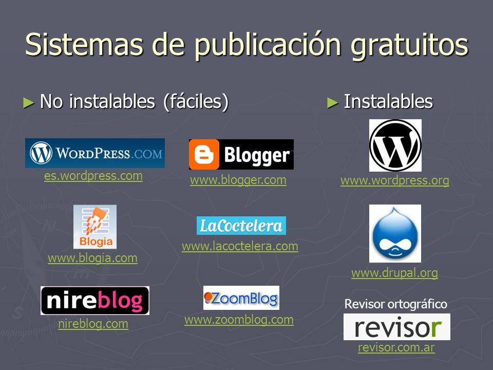 Sistemas de publicación gratuitos
