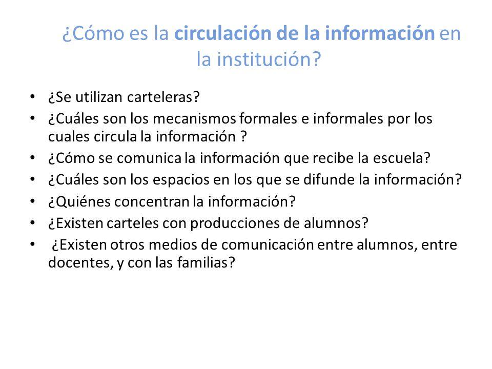 ¿Cómo es la circulación de la información en la institución