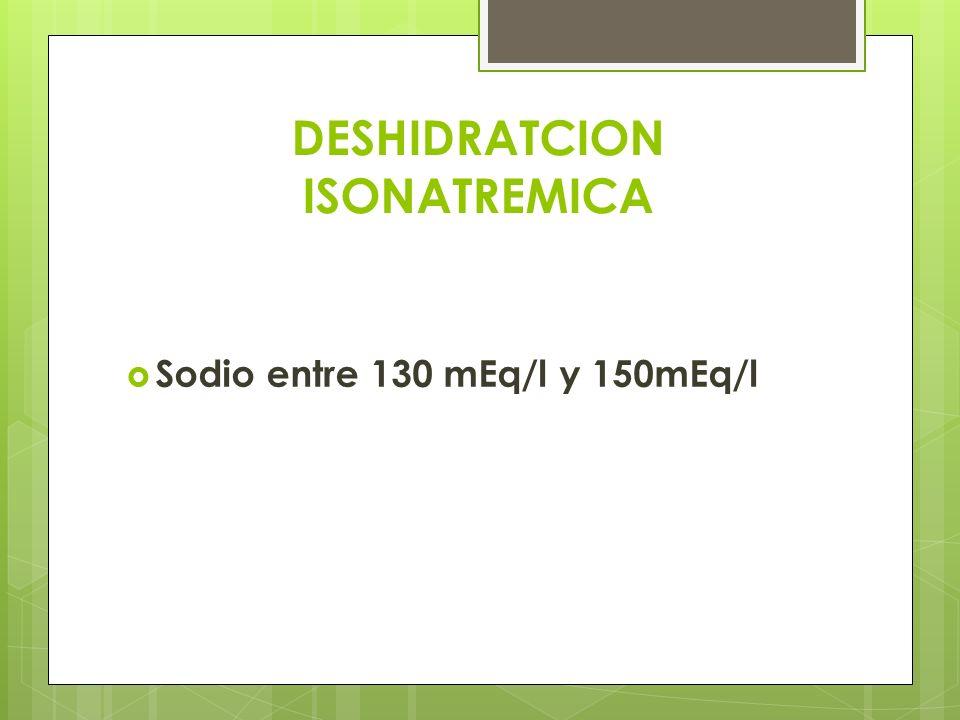 DESHIDRATCION ISONATREMICA