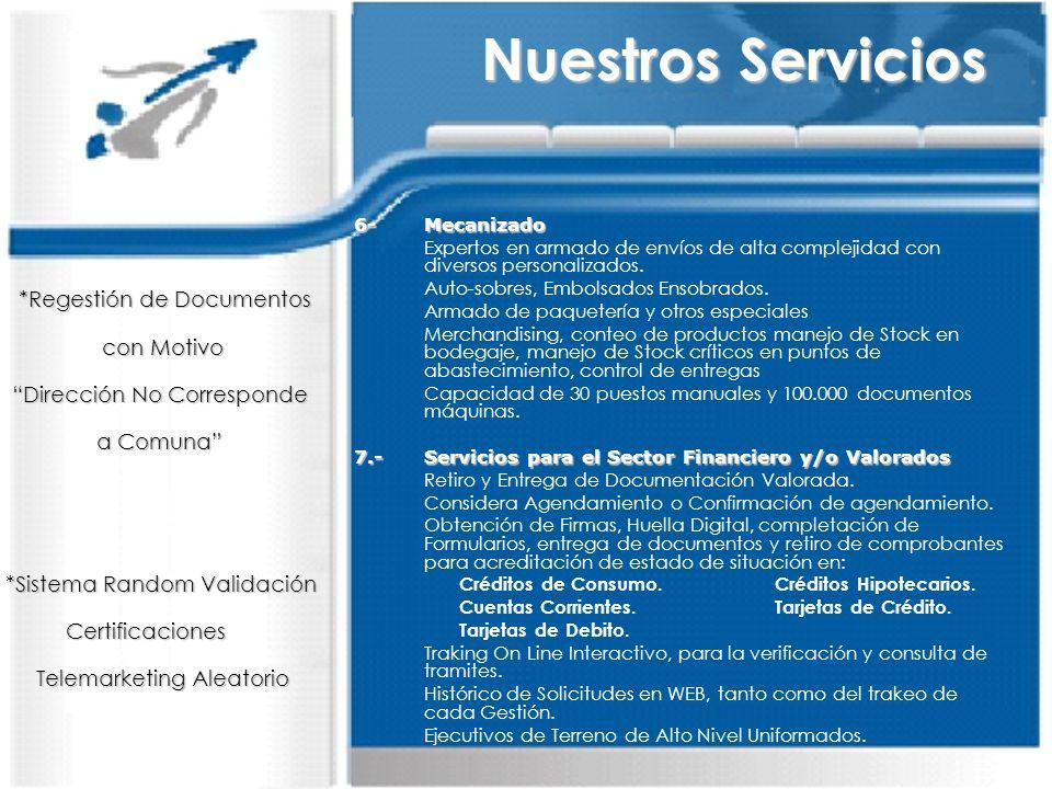 Nuestros Servicios *Regestión de Documentos con Motivo