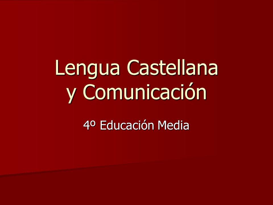 Lengua Castellana y Comunicación