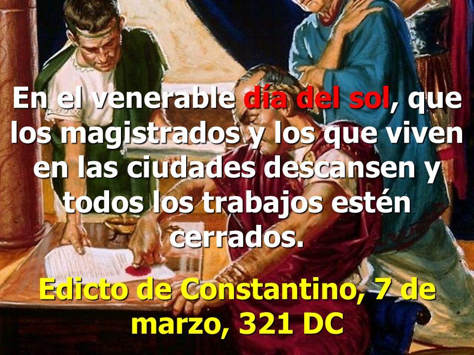 Edicto de Constantino, 7 de marzo, 321 DC