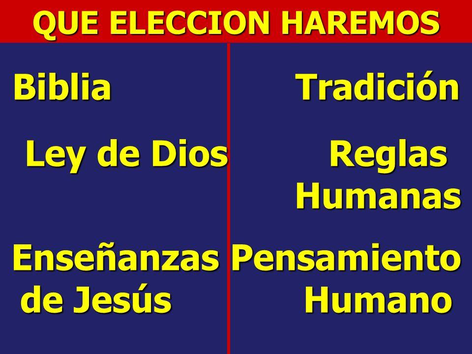 Ley de Dios Reglas Humanas Enseñanzas Pensamiento de Jesús Humano