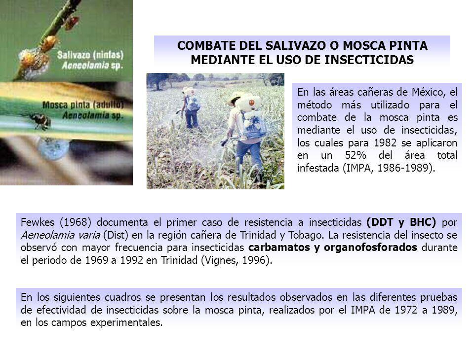 COMBATE DEL SALIVAZO O MOSCA PINTA MEDIANTE EL USO DE INSECTICIDAS