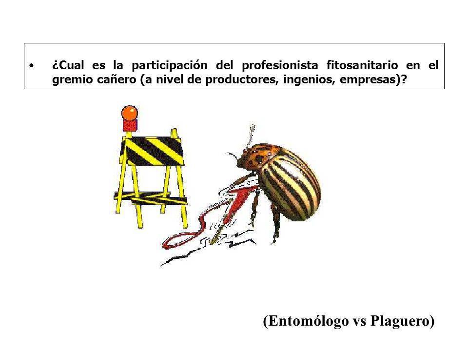(Entomólogo vs Plaguero)