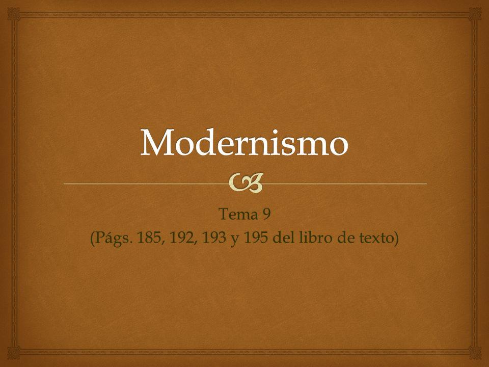 Tema 9 (Págs. 185, 192, 193 y 195 del libro de texto)