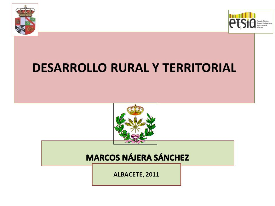 DESARROLLO RURAL Y TERRITORIAL