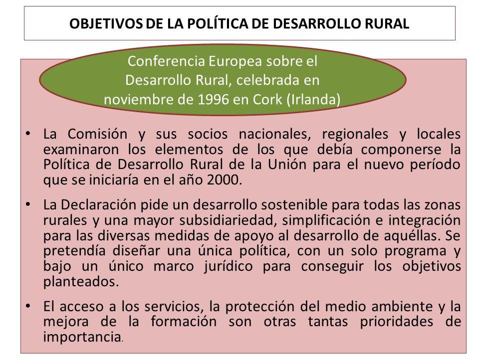 OBJETIVOS DE LA POLÍTICA DE DESARROLLO RURAL