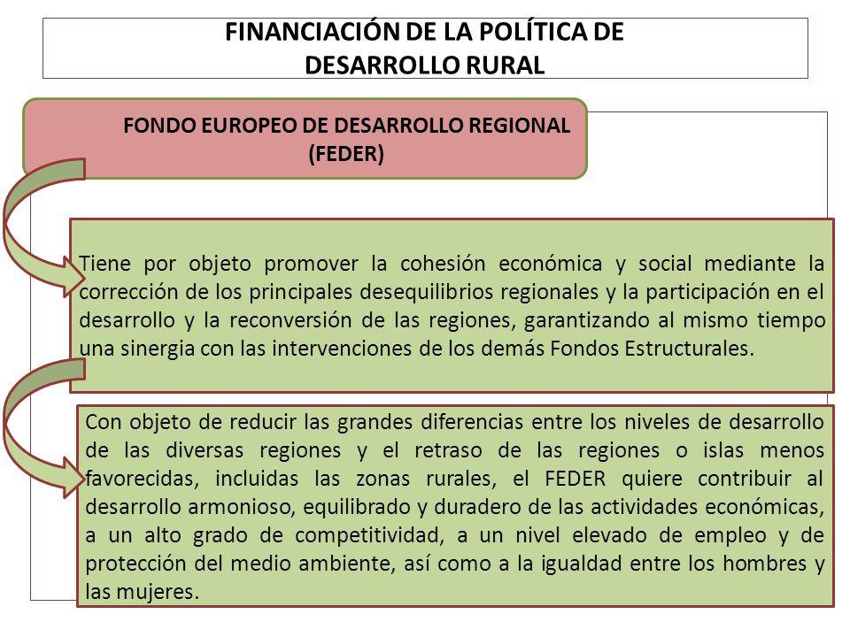FINANCIACIÓN DE LA POLÍTICA DE DESARROLLO RURAL