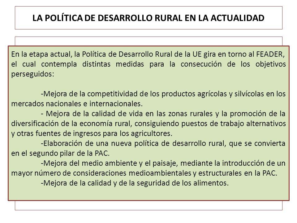 LA POLÍTICA DE DESARROLLO RURAL EN LA ACTUALIDAD