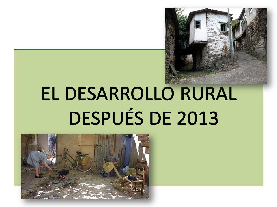 EL DESARROLLO RURAL DESPUÉS DE 2013