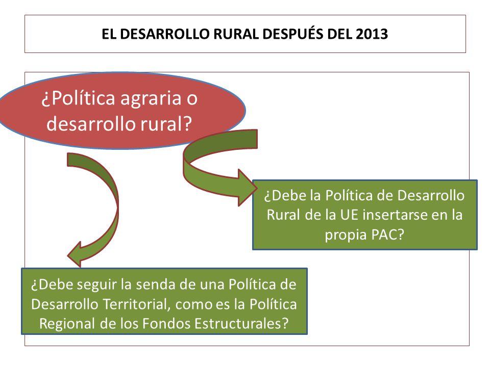 EL DESARROLLO RURAL DESPUÉS DEL 2013