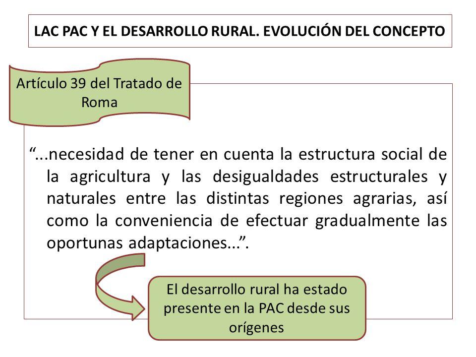 LAC PAC Y EL DESARROLLO RURAL. EVOLUCIÓN DEL CONCEPTO
