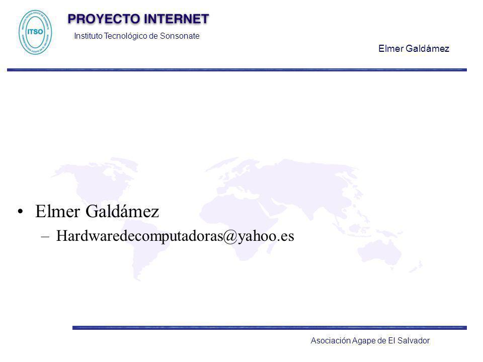 Elmer Galdámez Hardwaredecomputadoras@yahoo.es