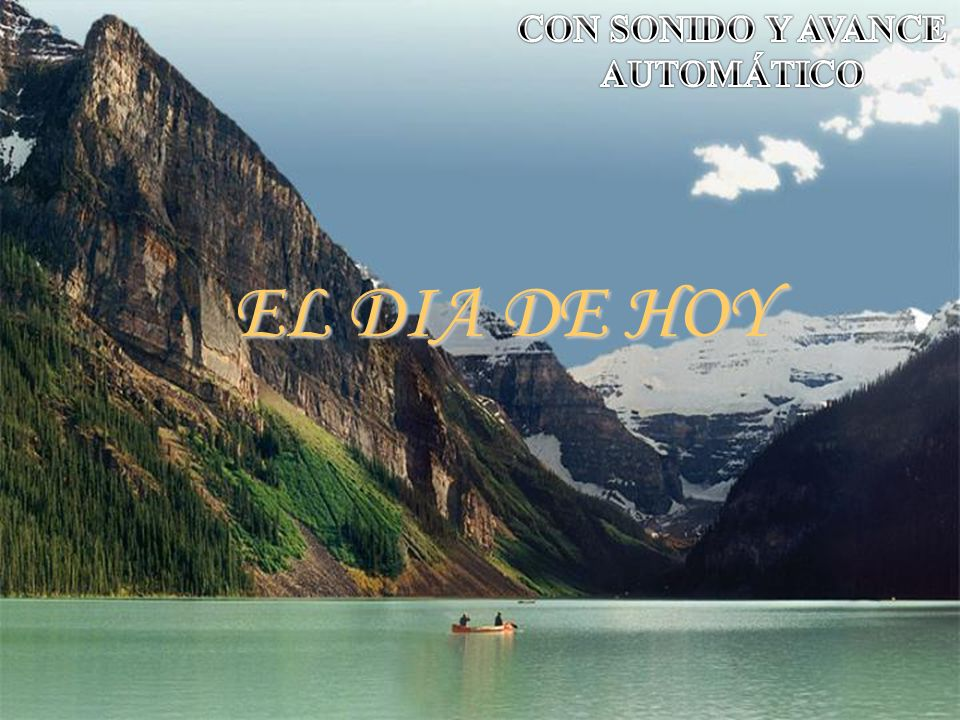 CON SONIDO Y AVANCE AUTOMÁTICO EL DIA DE HOY