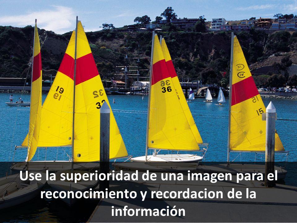 Use la superioridad de una imagen para el reconocimiento y recordacion de la información