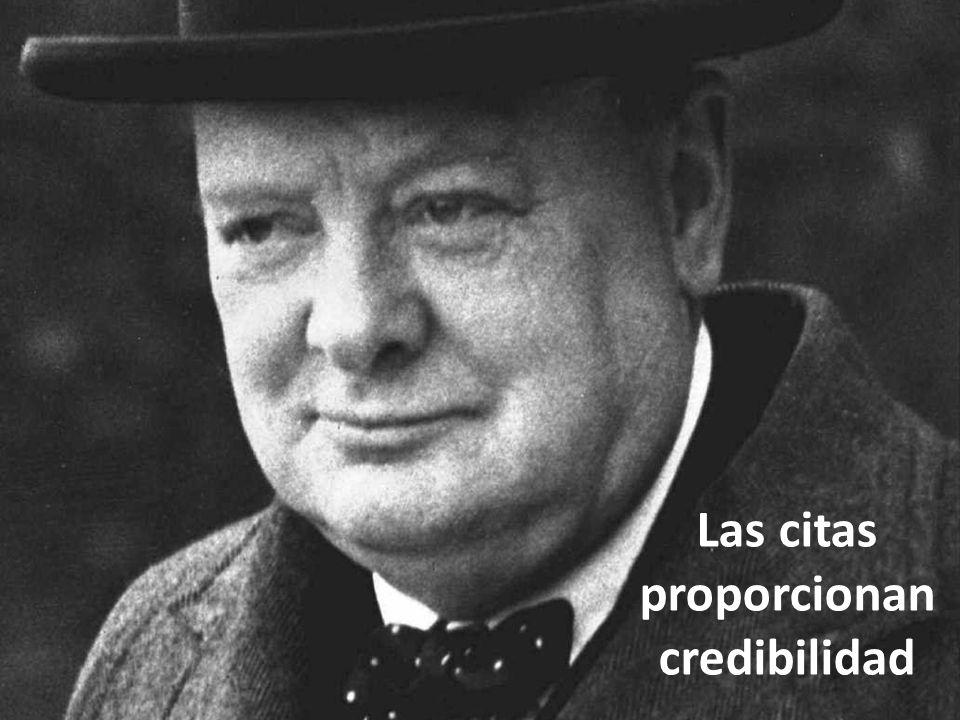Las citas proporcionan credibilidad