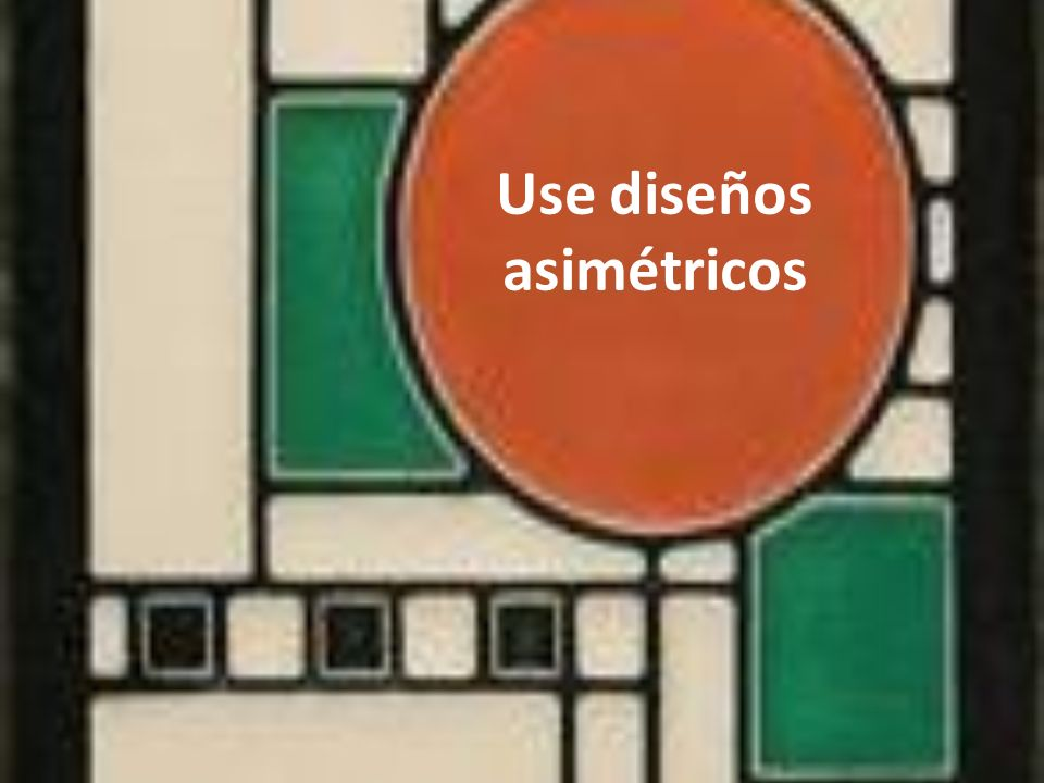Use diseños asimétricos