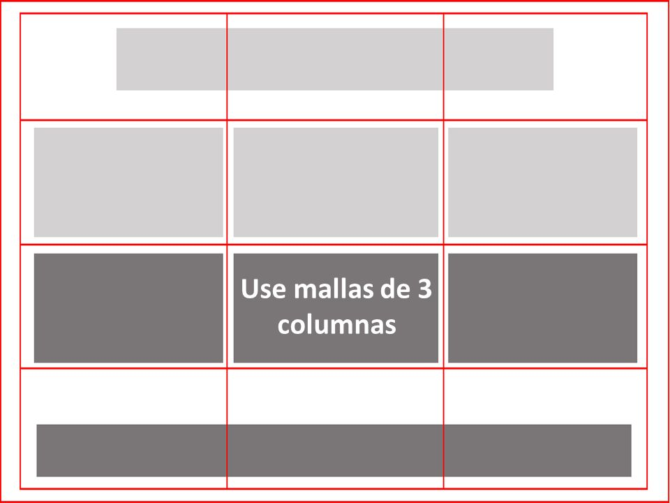 Use mallas de 3 columnas