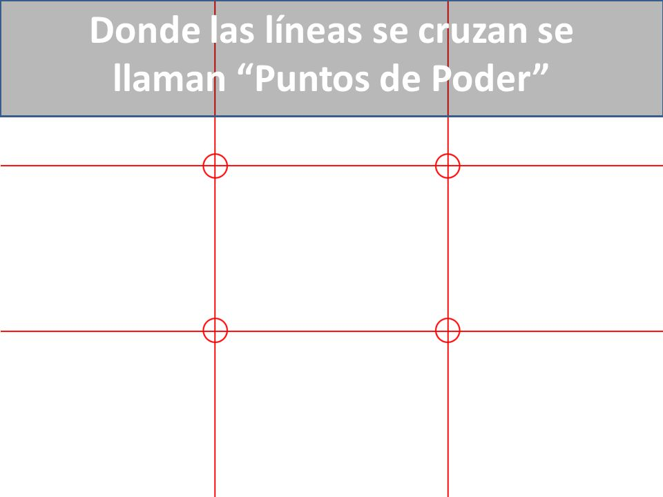 Donde las líneas se cruzan se llaman Puntos de Poder