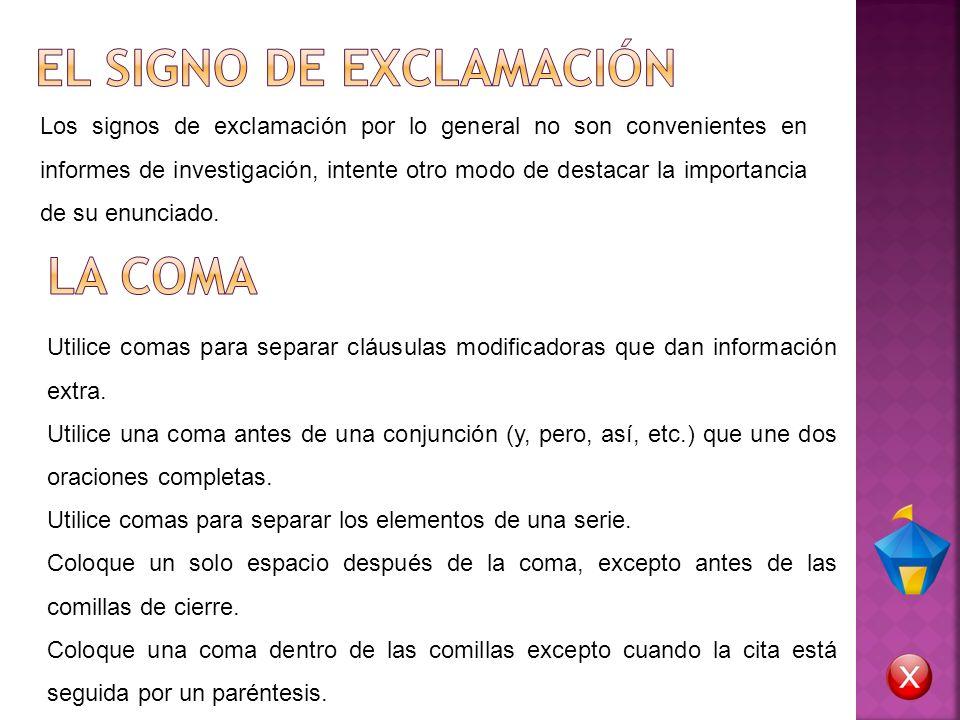 EL SIGNO DE EXCLAMACIÓN