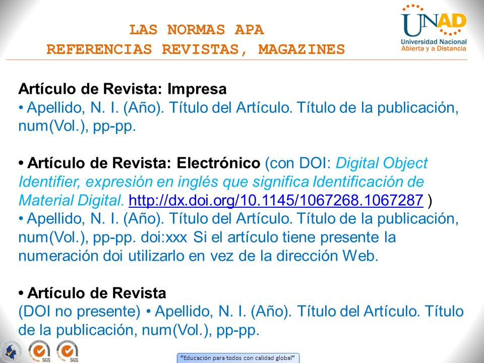 REFERENCIAS REVISTAS, MAGAZINES