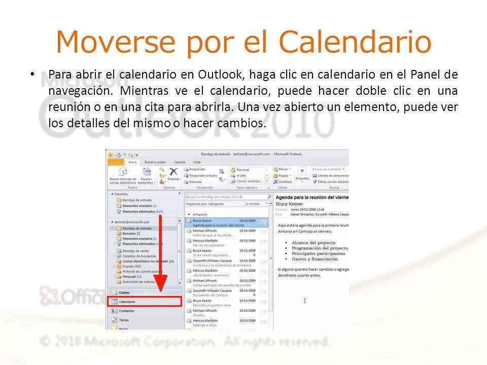 Moverse por el Calendario