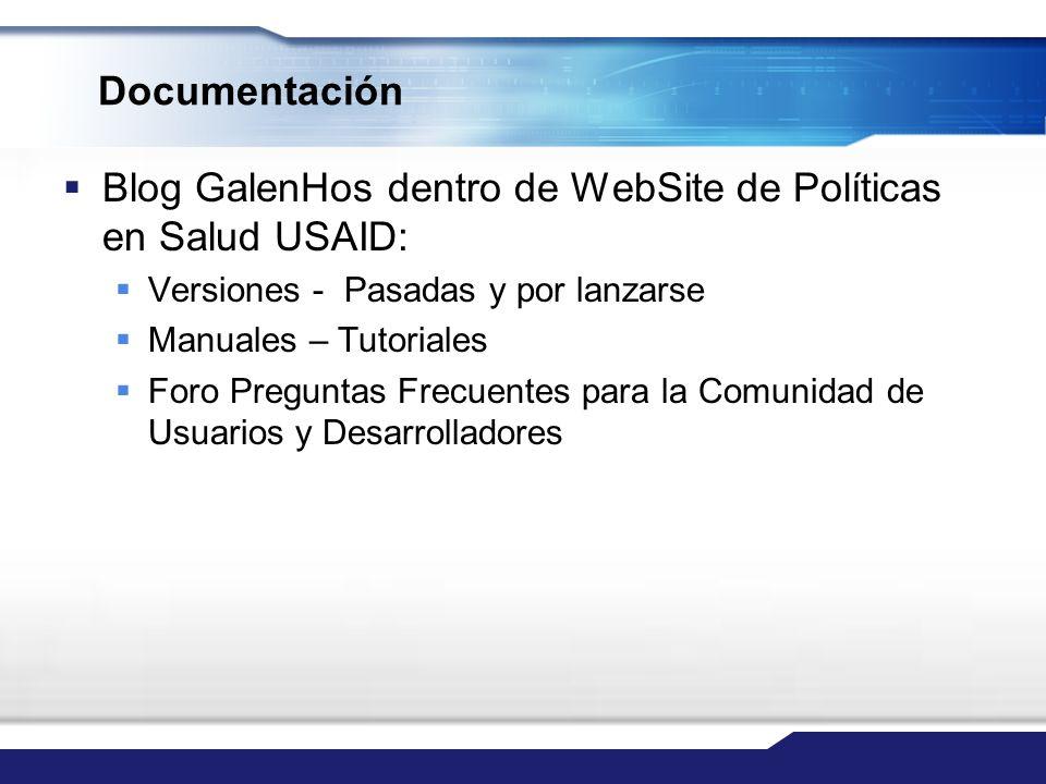 Blog GalenHos dentro de WebSite de Políticas en Salud USAID: