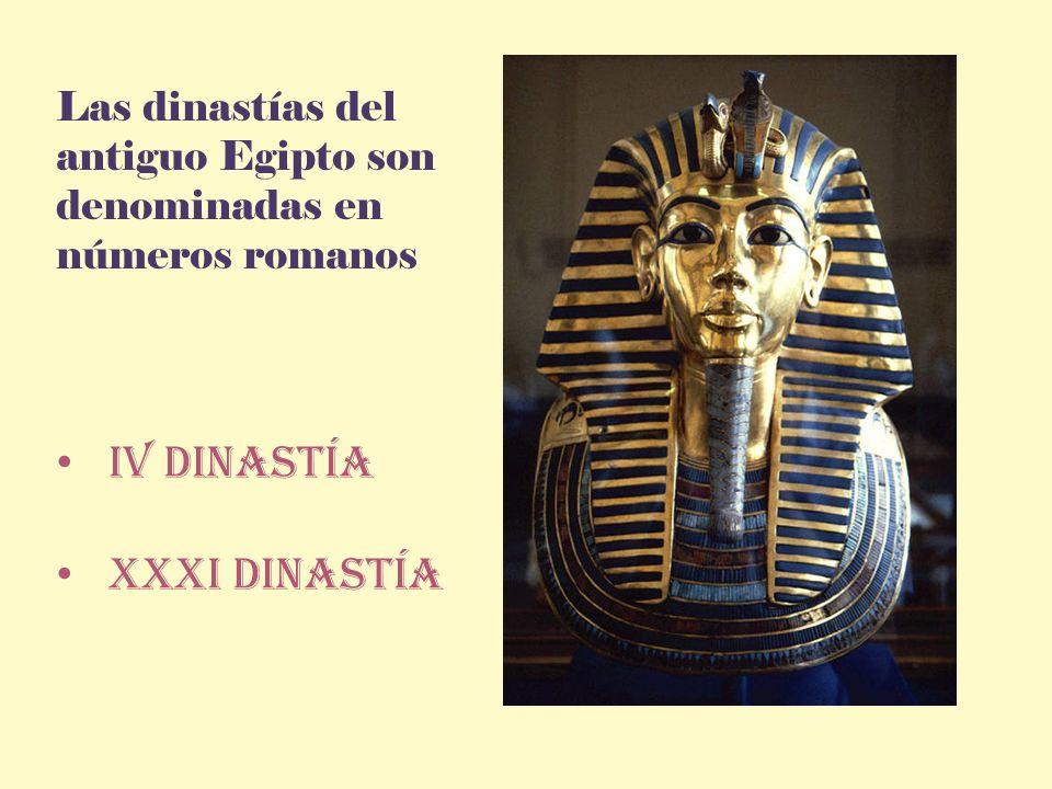 Iv dinastía XXXI dinastía