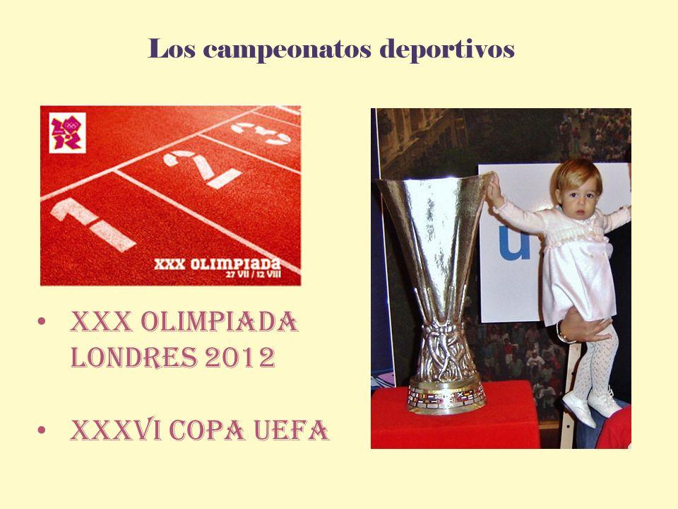 Los campeonatos deportivos