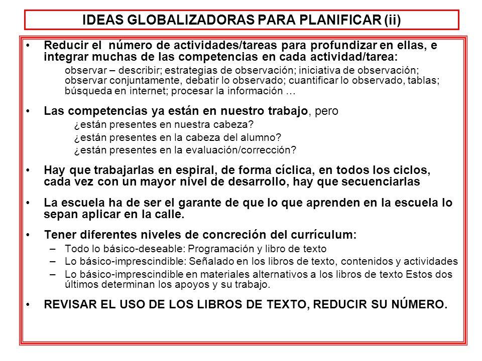 IDEAS GLOBALIZADORAS PARA PLANIFICAR (ii)