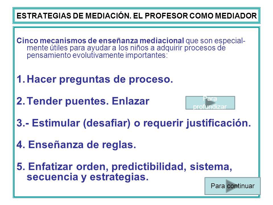 ESTRATEGIAS DE MEDIACIÓN. EL PROFESOR COMO MEDIADOR