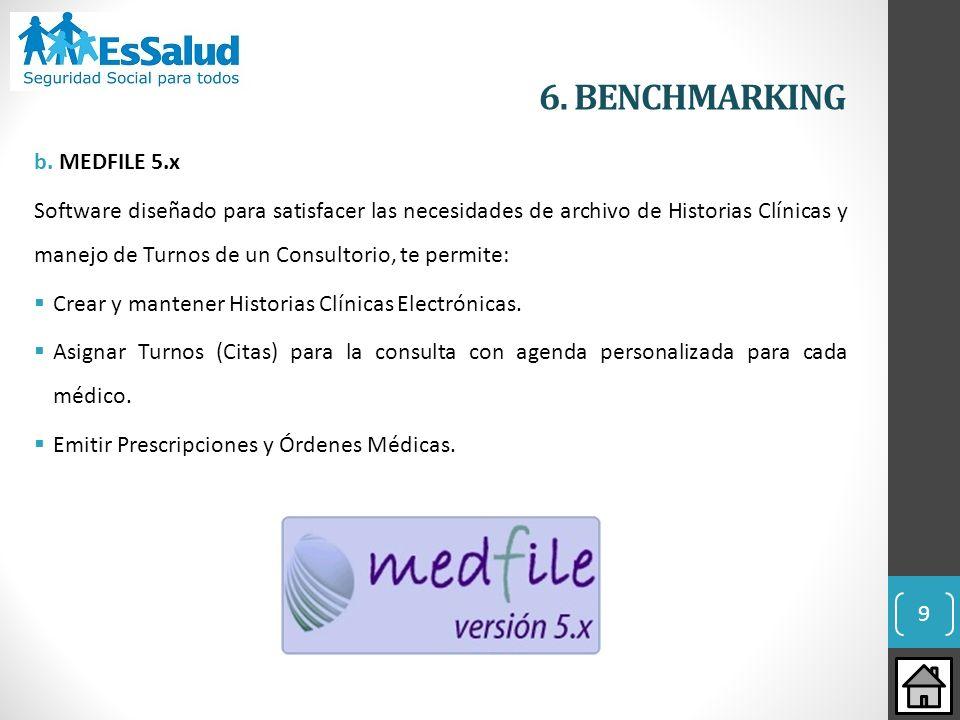 6. BENCHMARKING b. MEDFILE 5.x