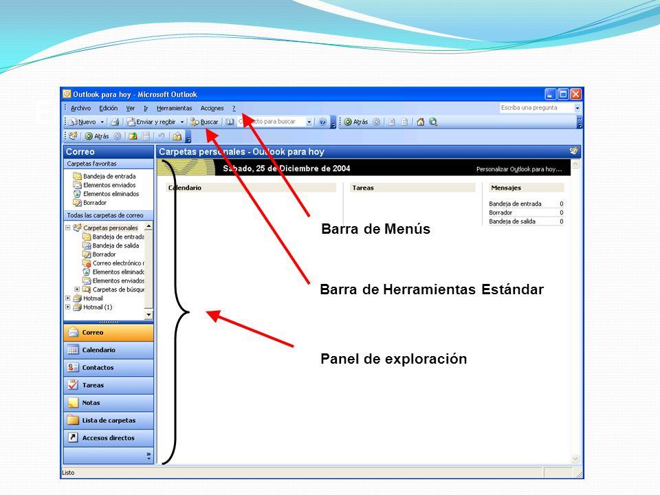 Entorno de trabajo en Outlook