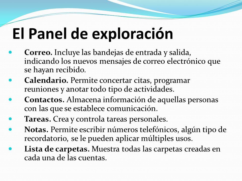 El Panel de exploración