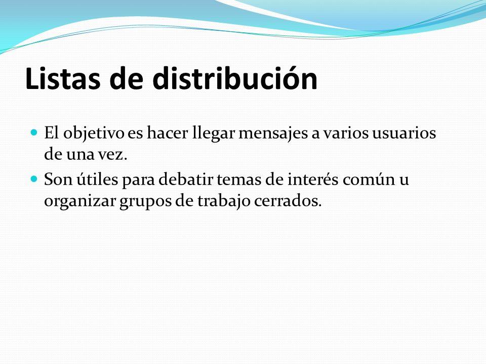 Listas de distribución