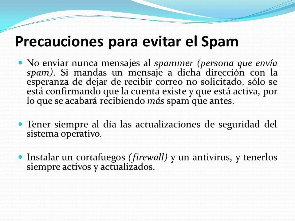 Precauciones para evitar el Spam