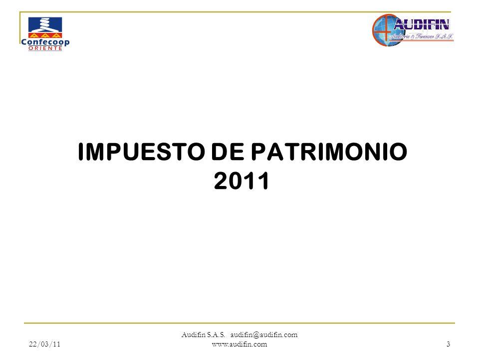 IMPUESTO DE PATRIMONIO 2011