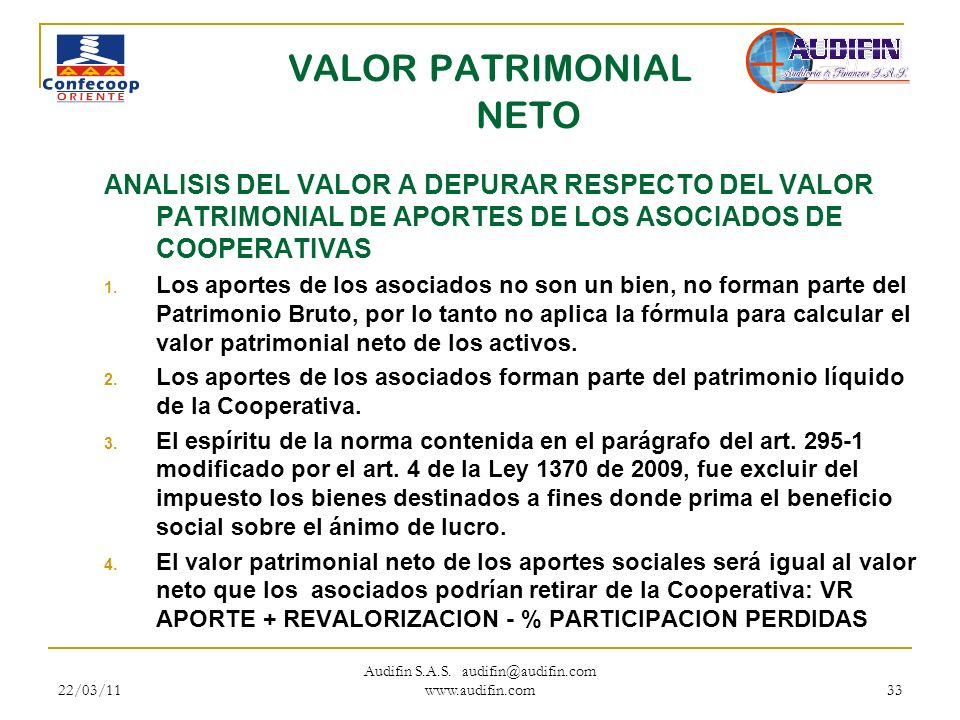 VALOR PATRIMONIAL NETO